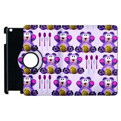 Fms Honey Bear With Spoons Apple Ipad 3/4 Flip 360 Case by FunWithFibro