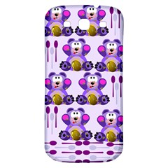 Fms Honey Bear With Spoons Samsung Galaxy S3 S Iii Classic Hardshell Back Case by FunWithFibro