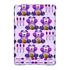 Fms Honey Bear With Spoons Apple Ipad Mini Hardshell Case (compatible With Smart Cover) by FunWithFibro
