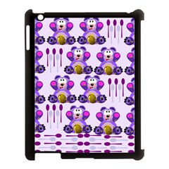 Fms Honey Bear With Spoons Apple Ipad 3/4 Case (black) by FunWithFibro