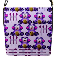 Fms Honey Bear With Spoons Flap Closure Messenger Bag (small) by FunWithFibro