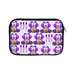 Fms Honey Bear With Spoons Apple Ipad Mini Zippered Sleeve by FunWithFibro