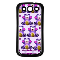 Fms Honey Bear With Spoons Samsung Galaxy S3 Back Case (black) by FunWithFibro