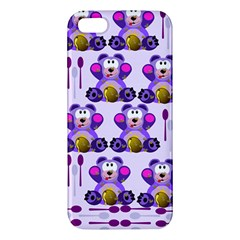 Fms Honey Bear With Spoons Iphone 5s Premium Hardshell Case by FunWithFibro