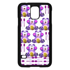 Fms Honey Bear With Spoons Samsung Galaxy S5 Case (black) by FunWithFibro