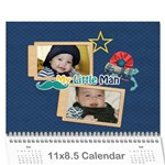 Wall Calendar 11 x 8.5 : Little Man - Wall Calendar 11  x 8.5  (12-Months)
