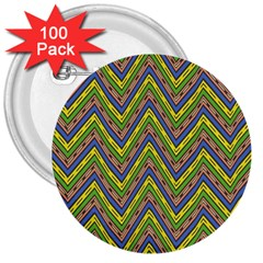 Zig Zag Pattern 3  Button (100 Pack) by LalyLauraFLM