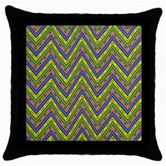 Zig Zag Pattern Throw Pillow Case (black)