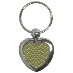 Zig Zag Pattern Key Chain (heart) by LalyLauraFLM