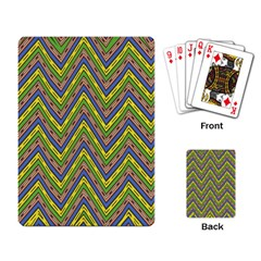 Zig Zag Pattern Playing Cards Single Design by LalyLauraFLM