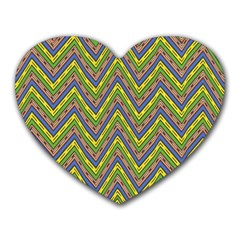 Zig Zag Pattern Heart Mousepad by LalyLauraFLM