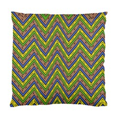 Zig Zag Pattern Cushion Case (two Sides) by LalyLauraFLM