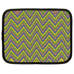 Zig Zag Pattern Netbook Case (xxl) by LalyLauraFLM