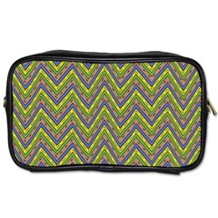 Zig Zag Pattern Toiletries Bag (two Sides) by LalyLauraFLM