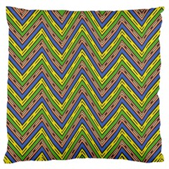 Zig Zag Pattern Large Cushion Case (two Sides) by LalyLauraFLM