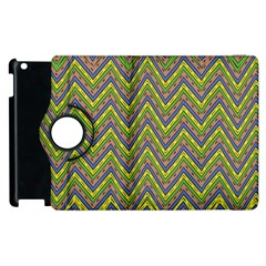 Zig Zag Pattern Apple Ipad 3/4 Flip 360 Case by LalyLauraFLM