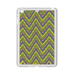 Zig Zag Pattern Apple Ipad Mini 2 Case (white) by LalyLauraFLM