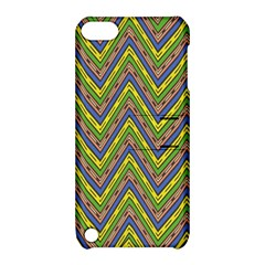 Zig Zag Pattern Apple Ipod Touch 5 Hardshell Case With Stand by LalyLauraFLM