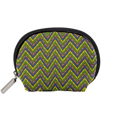 Zig Zag Pattern Accessory Pouch (small) by LalyLauraFLM
