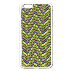 Zig Zag Pattern Apple Iphone 6 Plus Enamel White Case