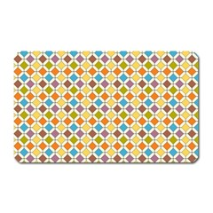 Colorful Rhombus Pattern Magnet (rectangular) by LalyLauraFLM