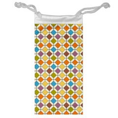 Colorful Rhombus Pattern Jewelry Bag by LalyLauraFLM