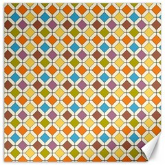 Colorful Rhombus Pattern Canvas 12  X 12  by LalyLauraFLM