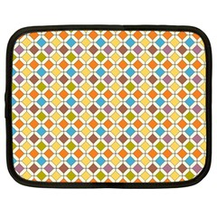 Colorful Rhombus Pattern Netbook Case (large) by LalyLauraFLM