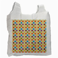 Colorful Rhombus Pattern Recycle Bag (two Side) by LalyLauraFLM