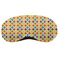 Colorful Rhombus Pattern Sleeping Mask by LalyLauraFLM