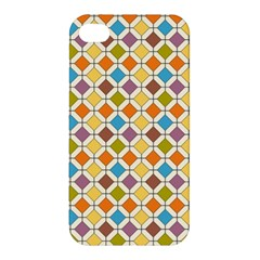 Colorful Rhombus Pattern Apple Iphone 4/4s Hardshell Case by LalyLauraFLM