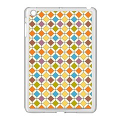 Colorful Rhombus Pattern Apple Ipad Mini Case (white) by LalyLauraFLM