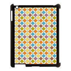 Colorful Rhombus Pattern Apple Ipad 3/4 Case (black) by LalyLauraFLM