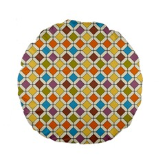 Colorful Rhombus Pattern 15  Premium Round Cushion  by LalyLauraFLM
