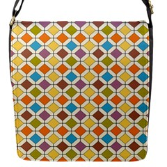 Colorful Rhombus Pattern Flap Closure Messenger Bag (small) by LalyLauraFLM