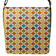 Colorful Rhombus Pattern Removable Flap Cover (small) by LalyLauraFLM