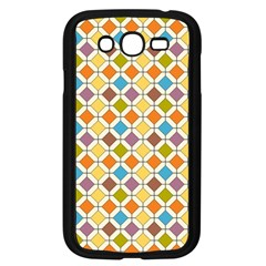 Colorful Rhombus Pattern Samsung Galaxy Grand Duos I9082 Case (black) by LalyLauraFLM