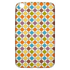 Colorful Rhombus Pattern Samsung Galaxy Tab 3 (8 ) T3100 Hardshell Case  by LalyLauraFLM