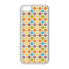 Colorful Rhombus Pattern Apple Iphone 5c Seamless Case (white) by LalyLauraFLM