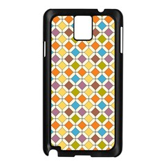 Colorful Rhombus Pattern Samsung Galaxy Note 3 N9005 Case (black) by LalyLauraFLM