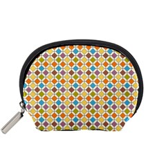 Colorful Rhombus Pattern Accessory Pouch (small) by LalyLauraFLM