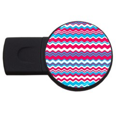 Waves Pattern Usb Flash Drive Round (2 Gb) by LalyLauraFLM