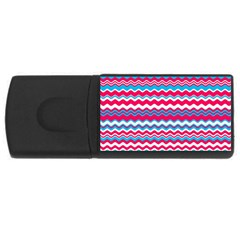 Waves Pattern Usb Flash Drive Rectangular (4 Gb) by LalyLauraFLM