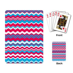 Waves Pattern Playing Cards Single Design by LalyLauraFLM