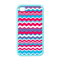 Waves Pattern Apple Iphone 4 Case (color) by LalyLauraFLM