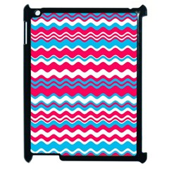 Waves Pattern Apple Ipad 2 Case (black) by LalyLauraFLM