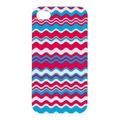 Waves Pattern Apple Iphone 4/4s Premium Hardshell Case by LalyLauraFLM