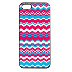 Waves Pattern Apple Iphone 5 Seamless Case (black) by LalyLauraFLM