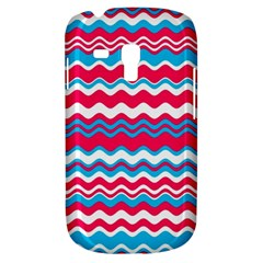 Waves Pattern Samsung Galaxy S3 Mini I8190 Hardshell Case by LalyLauraFLM