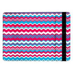 Waves Pattern Samsung Galaxy Tab Pro 12 2  Flip Case by LalyLauraFLM